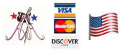American Art Tattoo accepts Visa and Mastercard Credit Cards